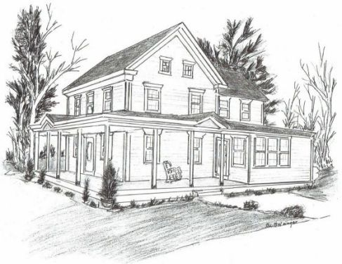 Christmas House Drawing.Dennisville Historic Home Owners Association Annual